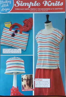 Knitting pattern for t-shirt, beanie & beach bag. Easy & Colourful.  (SK 160)