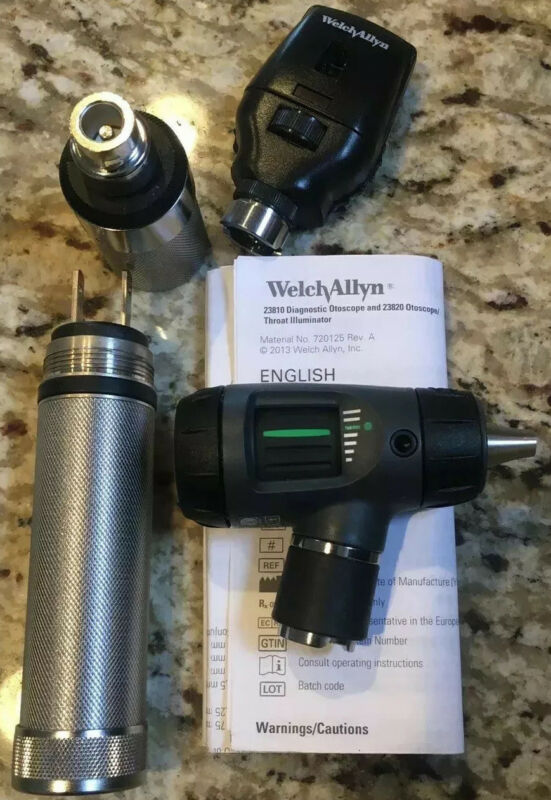 Welch Allyn MacroView 23820 Standard Ophthalmoscope Otoscope Diagnostic Set, NEW