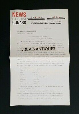 1965 The Cunard Steam-Ship Co Ltd