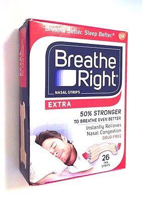 Breathe Right Nasal Strips - Extra - 50% Stronger - 26 Tan Strips