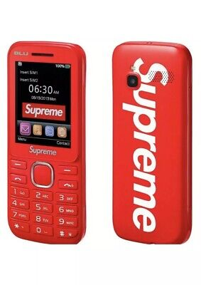 Supreme®/BLU Burner Phone Red NEW - IN HAND