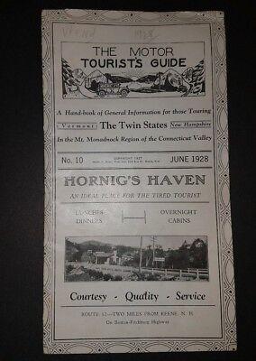 1928 Motor Tourist's Guide Keene New Hampshire - Vermont - Monadnock Region
