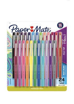 Paper Mate 24 Pack  Felt Tip Marker Pens Multicolor Ink  0.7mm Medium Point