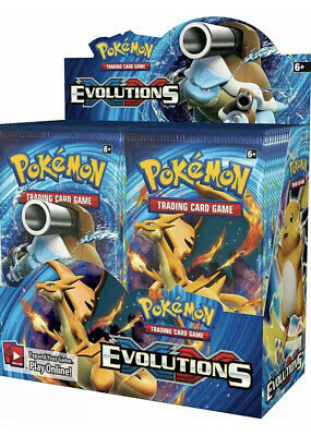 10 XY EVOLUTIONS Booster Packs Lot - Factory Sealed From Box Pokemon Cards 2016