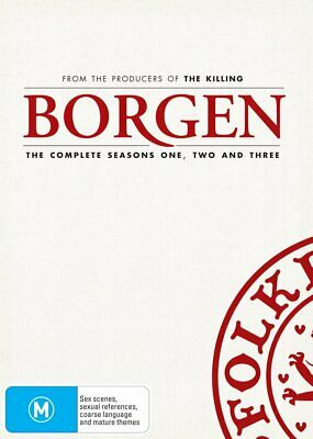 BORGEN 1-3 (2010-2013): Danish TV Trilogy Season Series - NEW Au Rg4 DVD not US