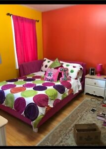 Double size pink bed frame
