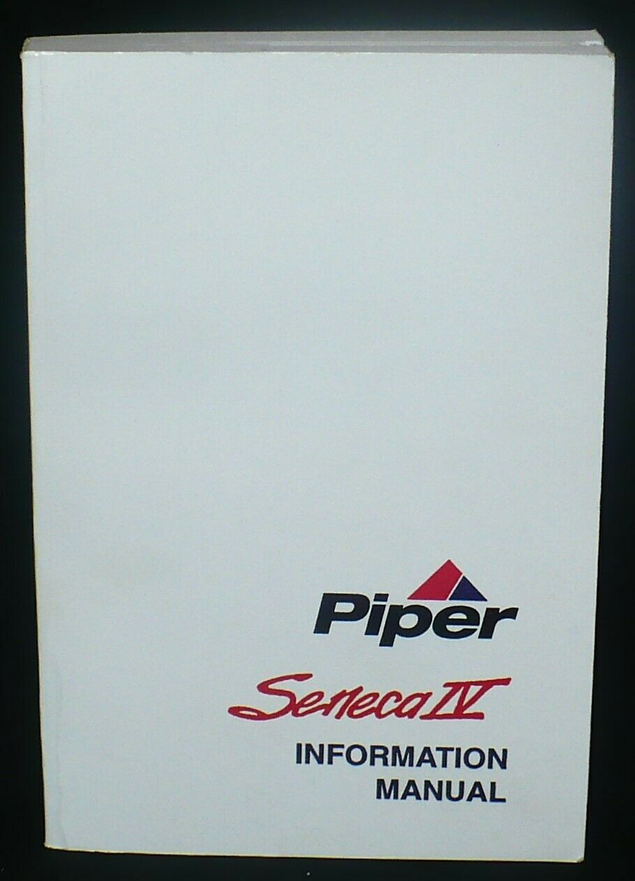 Piper Seneca IV Information Manual PA-34-220T Aviation Aircraft Airplane