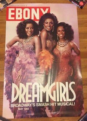 "Vtg 1982 EBONY Magazine Cover ""Dream Girls"" Broadway Musical Poster RARE 80's!"
