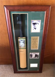 Donald Bradman 'the don' signed and framed cricket bat Kew Boroondara Area Preview