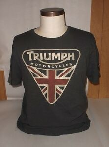 lucky brand triumph motorcycles badge t shirt men 39 s s