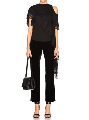 GIVENCHY 1595$ Auth new Reversible Asymmetrical Top, black, FR 36 FR 38