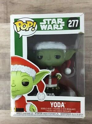 Funko POP Star Wars Yoda Christmas Edition Santa Clause #277 IMPERFECT BOX L02