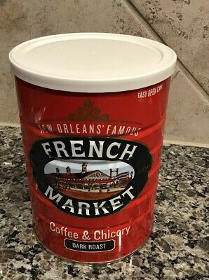 New Orleans Famous French Market Coffee & Chicory Dark Roast NEW AND FRESH - New Orleans French Coffee