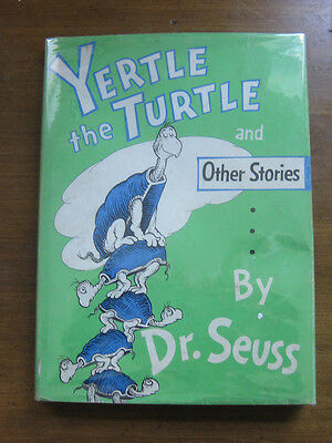 YERTLE THE TURTLE stories by Dr. Seuss - 1st HCDJ   -  cat in the hat  - 295/295