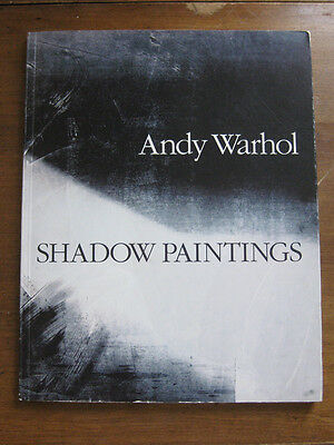 SHADOW PAINTINGS by Andy Warhol - 1/1000 limited - 1989 Gagosian Gallery - VG+