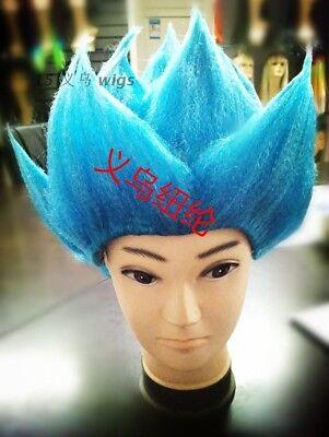 DragonBall Z Super Saiyan Vegeta Son Goku Hair Cosplay Costume Wig Blue (Super Saiyan Wig)