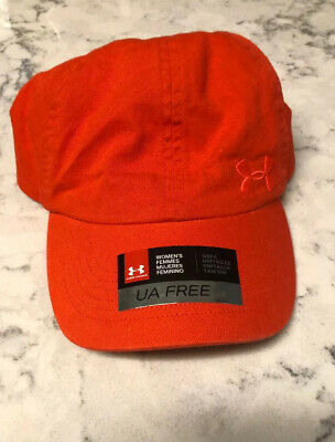 under armour ua free fit womens hat. orange
