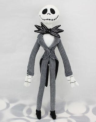 "Disney The Nightmare Before Christmas Jack Skellington Poseable Plush Doll 12"""