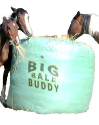 Big Bale Buddy Size Large Feed Hay Horses Equine Green Round Bale Feeder