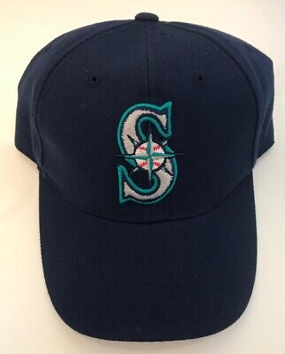 Seattle Mariners Embroidered Logo Baseball (Seattle Mariners Hat Snapback MLB Baseball Classic Vintage 90s Embroidered Logo )