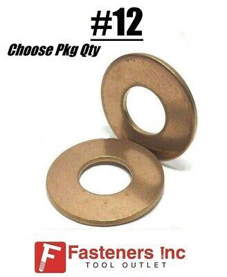 12 Marine Flat Washers Silicon Bronze Standard Round Washers .500 Od
