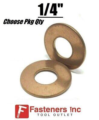 14 Marine Flat Washers Silicon Bronze Standard Round Washers .687 Od