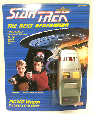 Star Trek:Next Generation 1988 Galoob Phaser- MINT on Card- Case Fresh