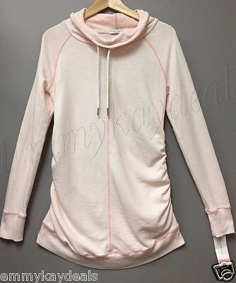 Liz Lange Maternity Long Sleeve Top  Howl Tunic Sweater Light pink Large