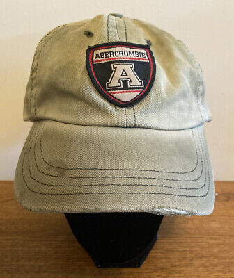 Vintage Early 90's Abercrombie & Fitch Hat 🧢 W/Leather BackStrap !!