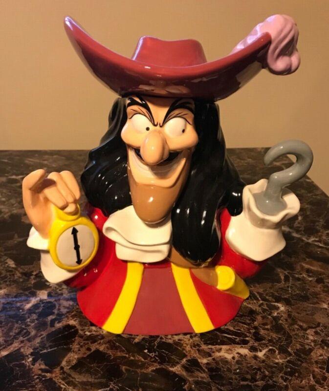 RARE Westland Giftware Disney Captain Hook Cookie Jar in Excellent Condition