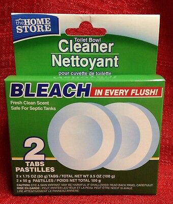 2 Automatic Bleach Toilet Bowl Tank Cleaning Tablets Cleaner Safe 4 Sepic