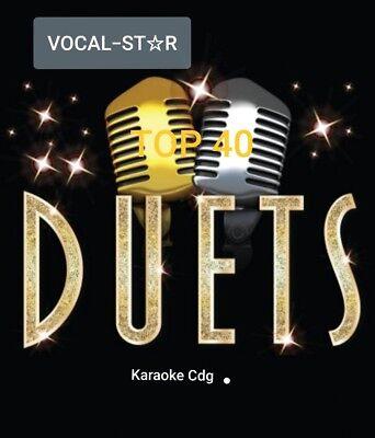 KARAOKE CDG   VOCAL STAR HUGE HITS OF  DUETS 2 DISCS  40  TOP TRACKS