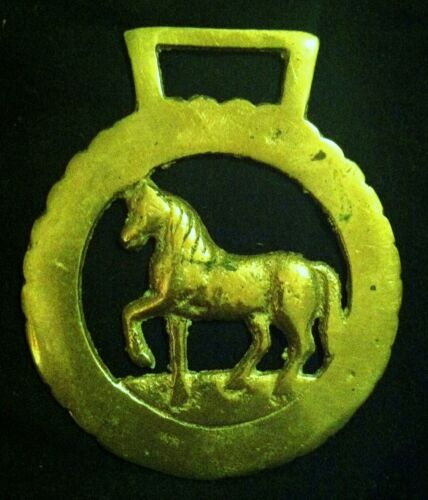 Vintage TROTTING PONY Horse Harness Brass frm England THIN BRASS WOW YOUR WALLS!