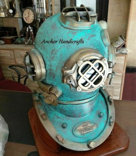 Copper Antique Scuba Brass Morse Diving Helmet US Navy Mark V Deep Marine Helmet