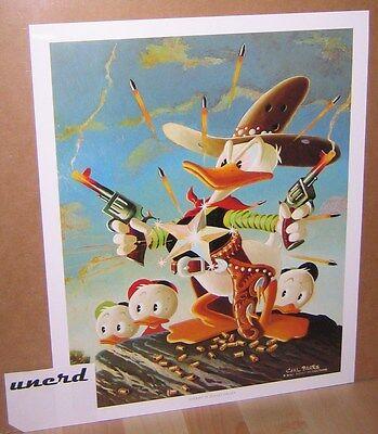 Carl Barks Kunstdruck: Sheriff of Bullet Valley - Donald Duck, Nephews Art Print