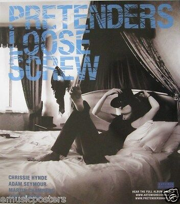 "PRETENDERS ""LOOSE SCREW"" U.S. PROMO POSTER - Chrissie Hynde / Martin Chambers"