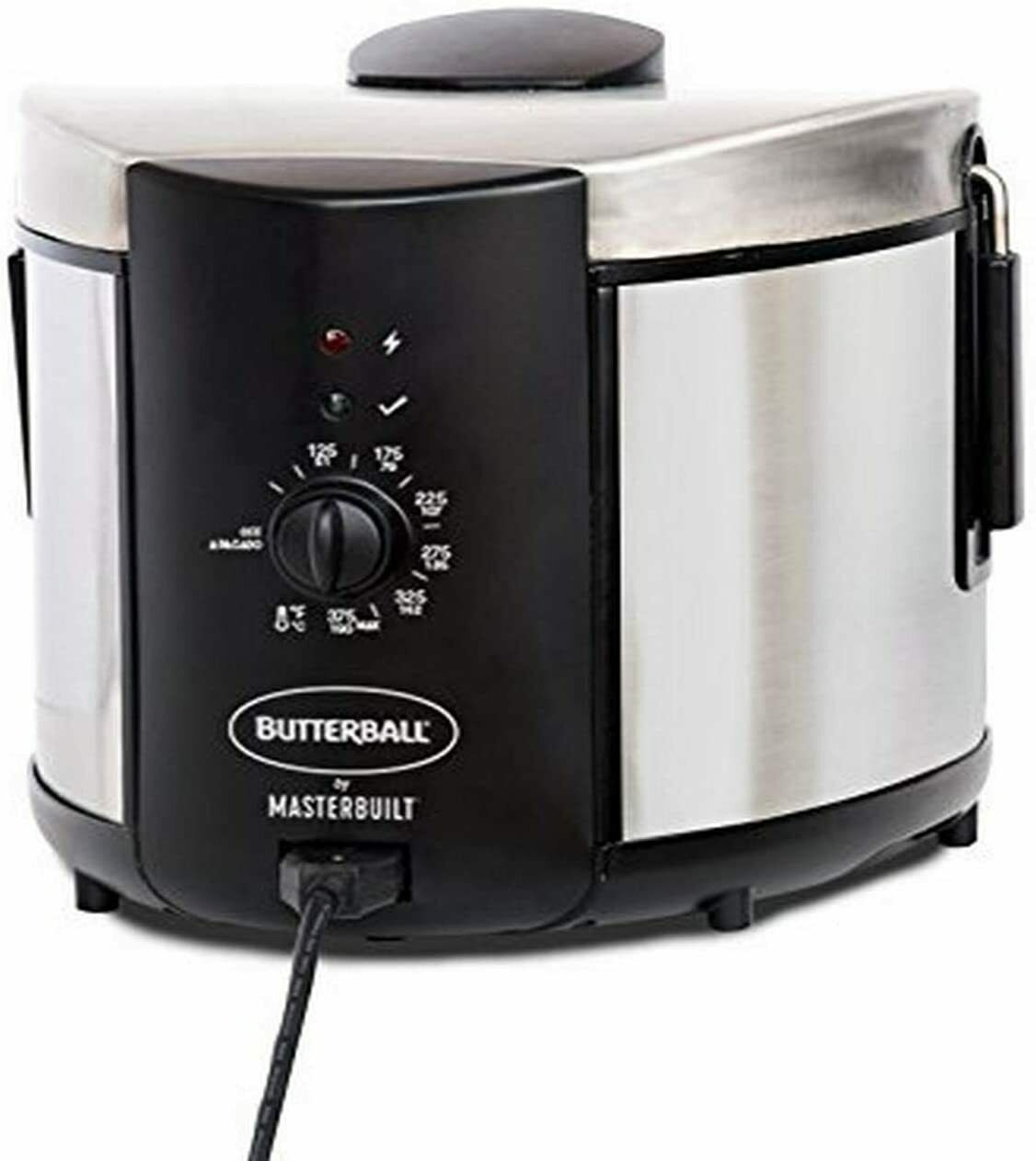 Masterbuilt Butterball MB23015018 Electric Fryer, 5 L, Stain