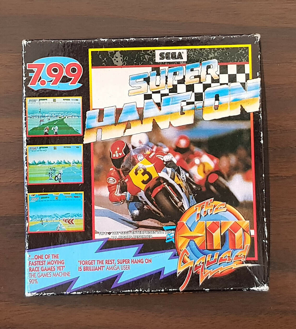 Computer Games - Super Hang-On A Motorcycle Game for the Commodore Amiga Computer
