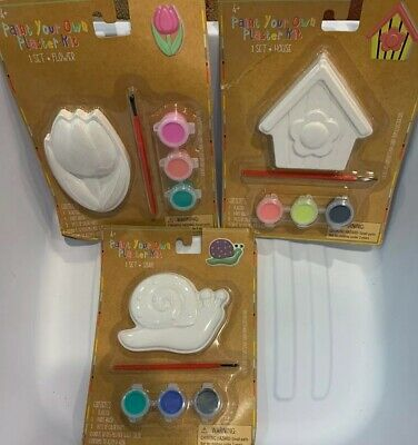 Paint Your Own (Paint Your Own Plaster Kit- Lot Of 3 Ladybug,)