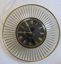 Vintage MCM/Atomic Westclox Orbit metal wall Clock Model S8-S 1950s - Works!