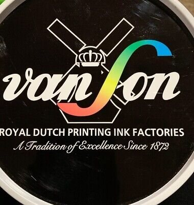 Vanson Royal Dutch Printing Ink Vs 3 Series Vs3817 Intense Black 2.2 Lb Vlt