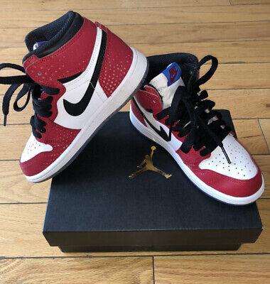 Nike Air Jordan 1 Retro High OG Spider Man Origin Story Sz 13C Preschool Boys