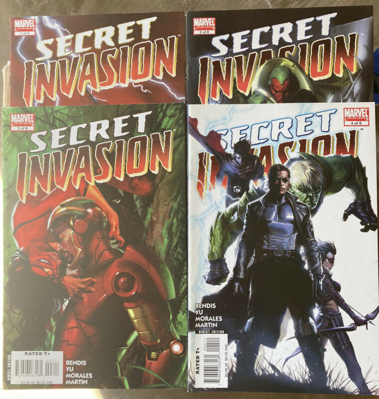 Secret Invasion 1-4 MARVEL COMICS NOS UNREAD MINTY FREE S/H NRMT/MINT