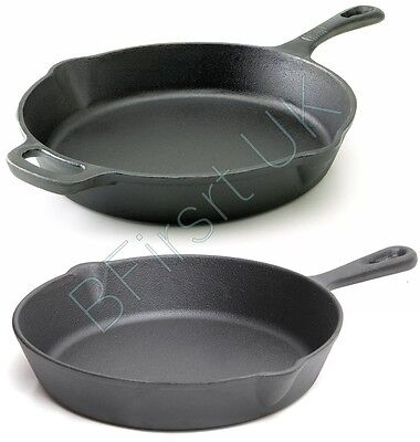 Cast Iron Induction Non Stick Grill Pan Skillet Cooking Fry Frying Griddle Pan Non Stick Cast