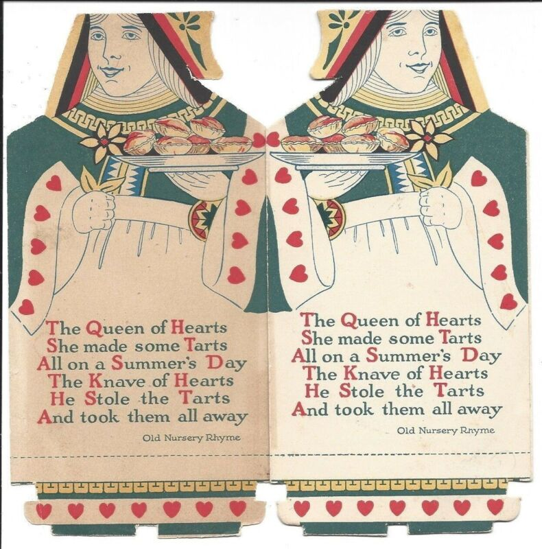 Queens of Hearts Figures on Vintage Snowdrift Cooking Fat Brochure,
