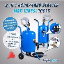 2 IN 1 Portable Soda/Sand Blaster MAX 125 PSI - 100LB w/ Wheels South Morang Whittlesea Area Preview
