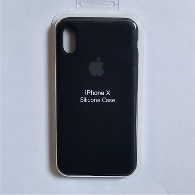 Authentic Apple iPhone X Silicone Case – Color Black