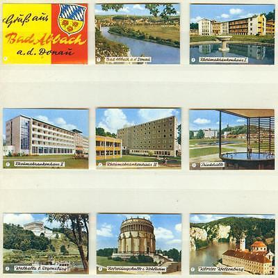 9er Streichholzetikettenserie 67 - Gruß aus Bad Abbach a.d. Donau