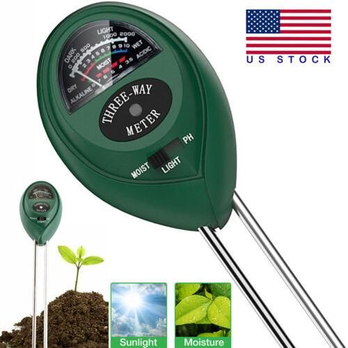 3 in1 Soil Tester Water PH Moisture Light Test Meter Kit For Garden Plant Flower