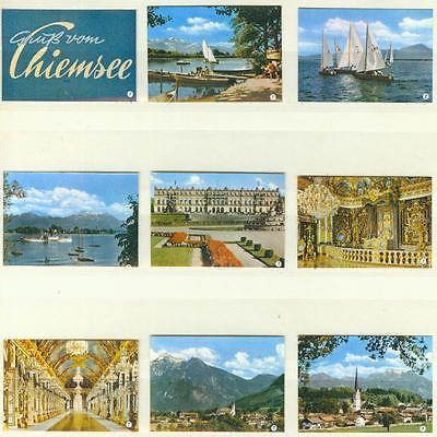 9er Streichholzetikettenserie 37 - Gruß vom Chiemsee